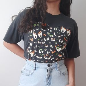 Vintage single stitch spooky eyes tee shirt